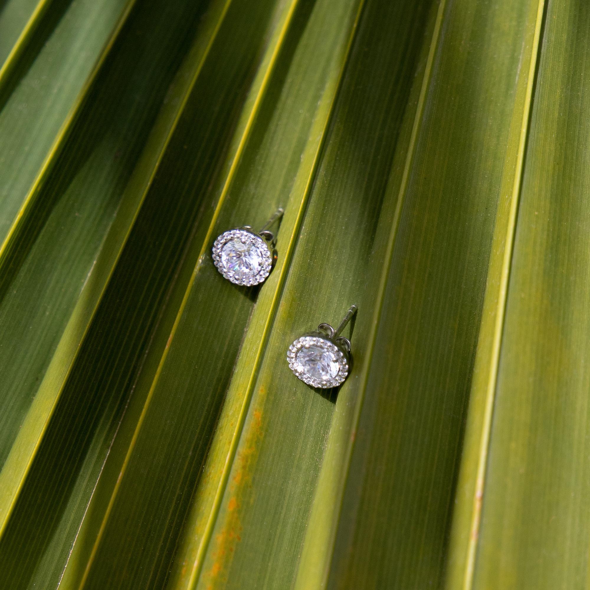 Parte di Me Luce Mia Dalia orecchini a bottone in argento sterling 925