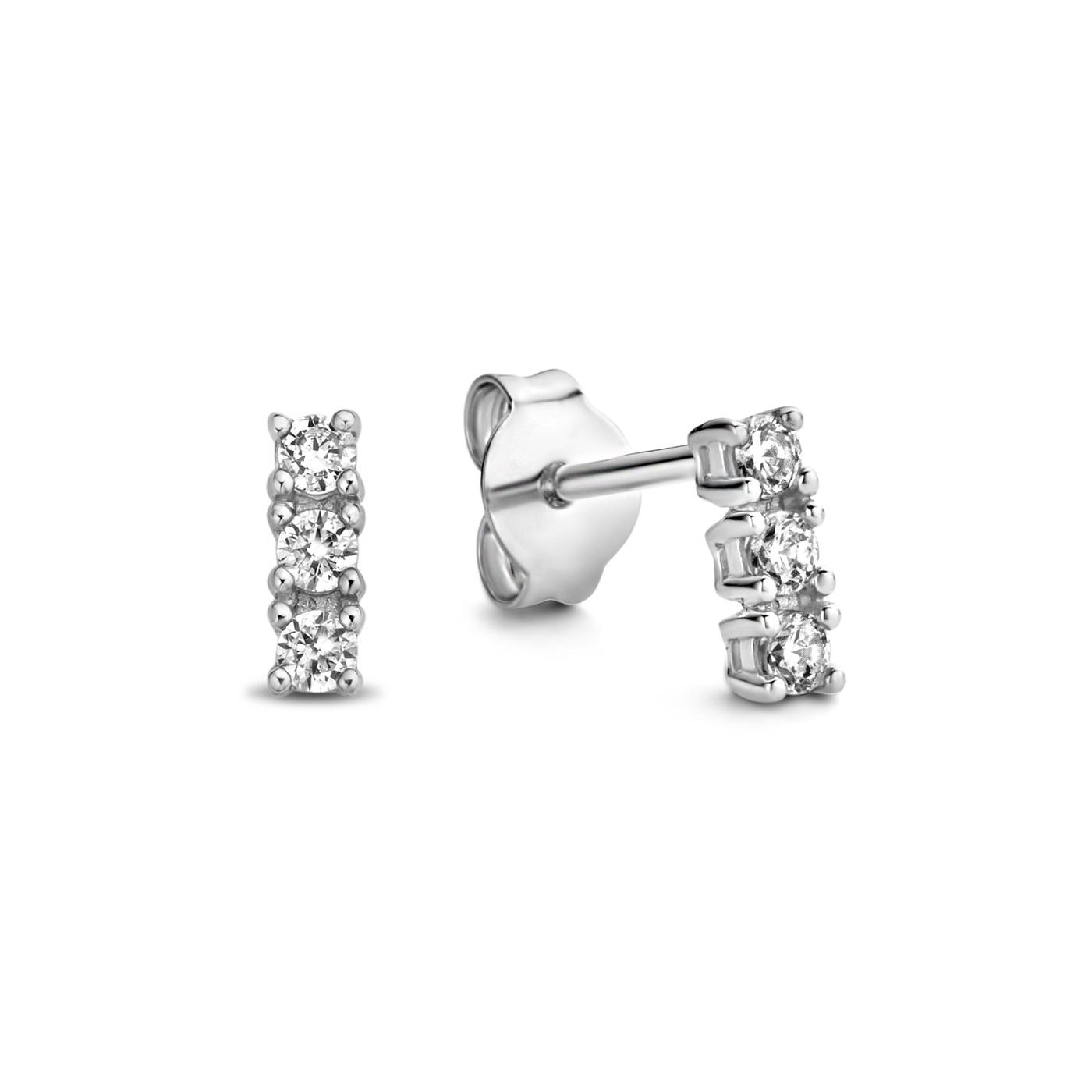 Parte di Me Bella Vita Sofia 925 sterling silver ear studs with zirconia