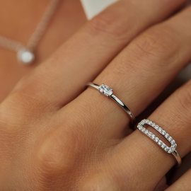 Parte di Me Bella Vita Milena 925 sterling silver ring with zirconia