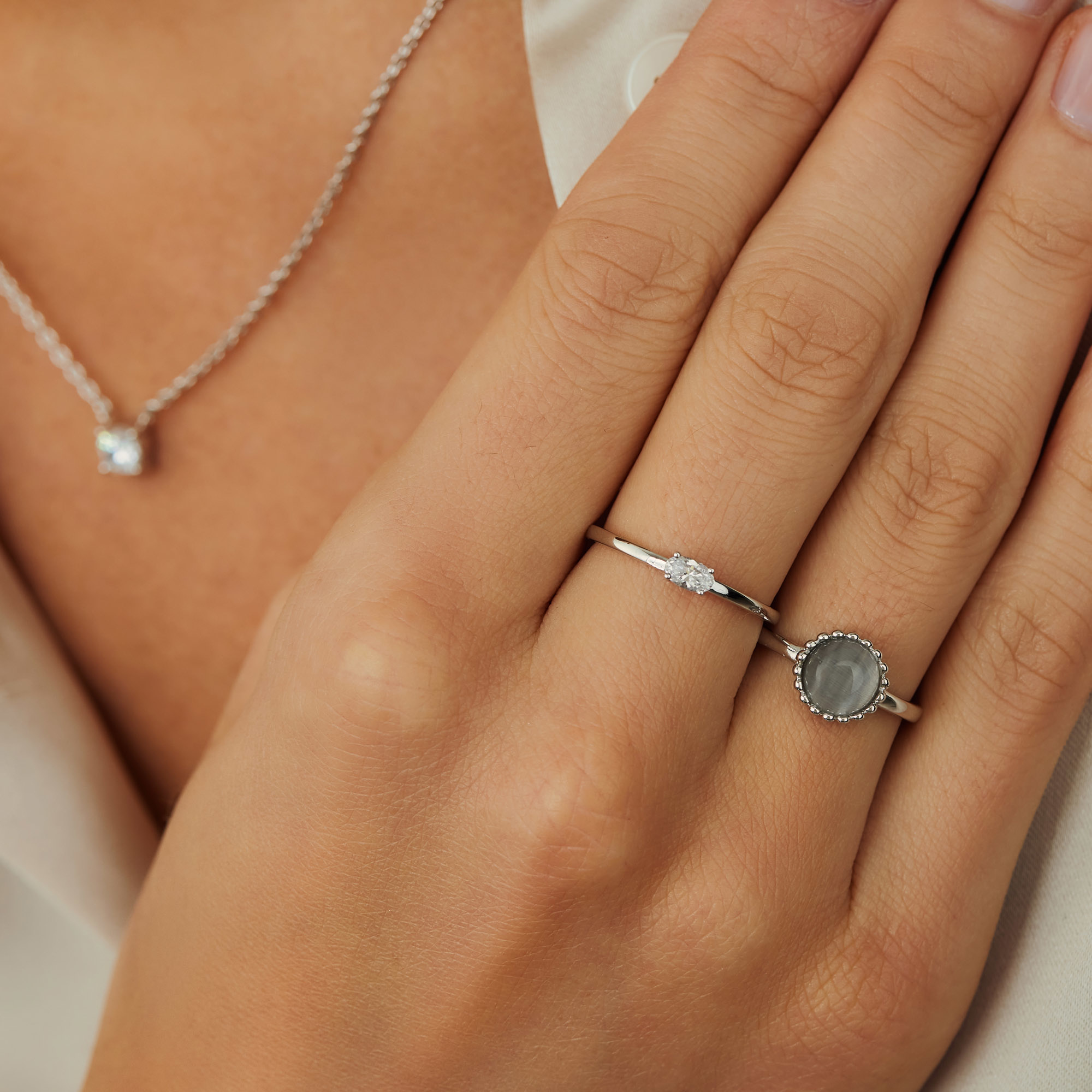 Parte di Me Brioso Cortona Chiara 925 sterling silver ring with cat eye