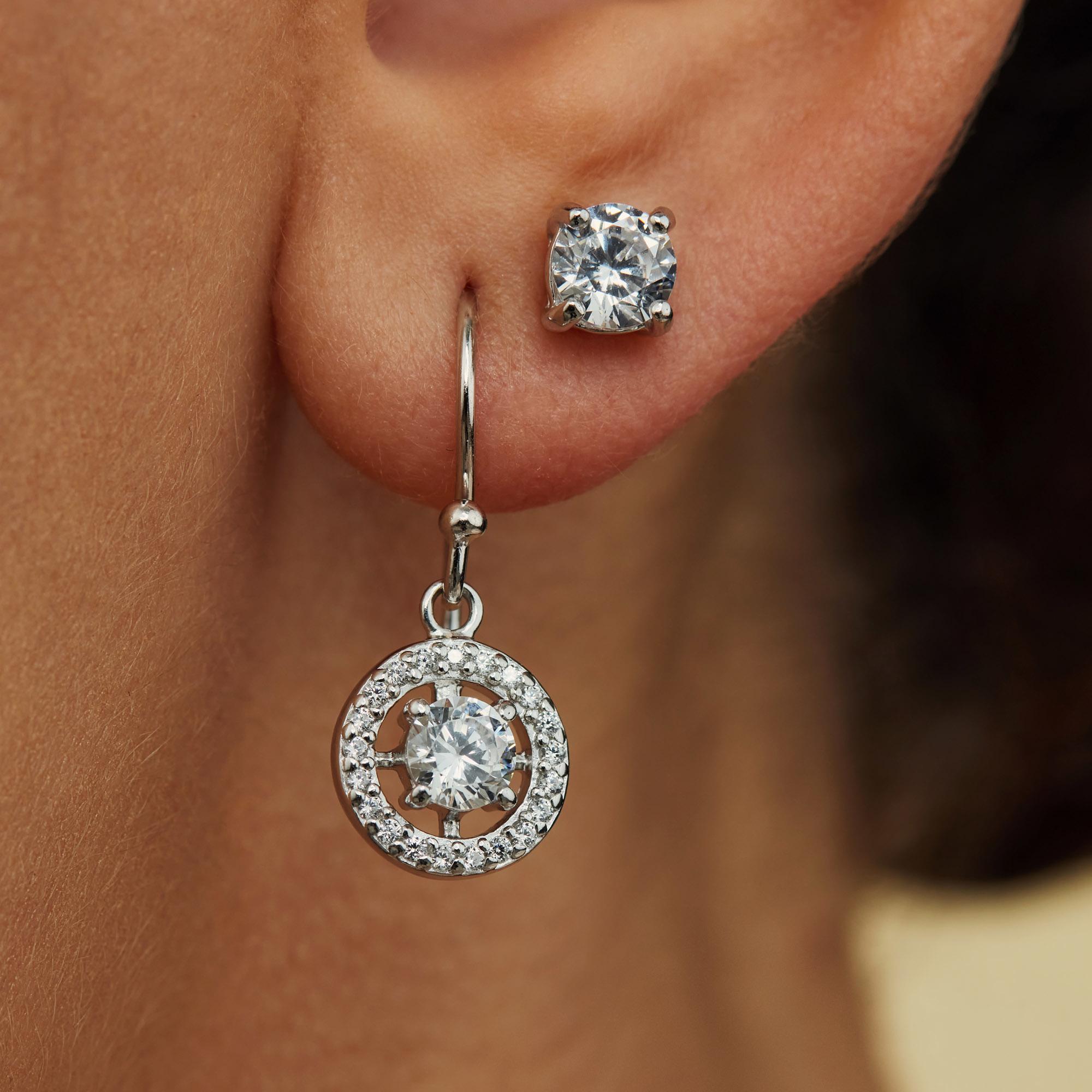 Parte di Me Luce Mia Dalia orecchini pendenti in argento sterling 925