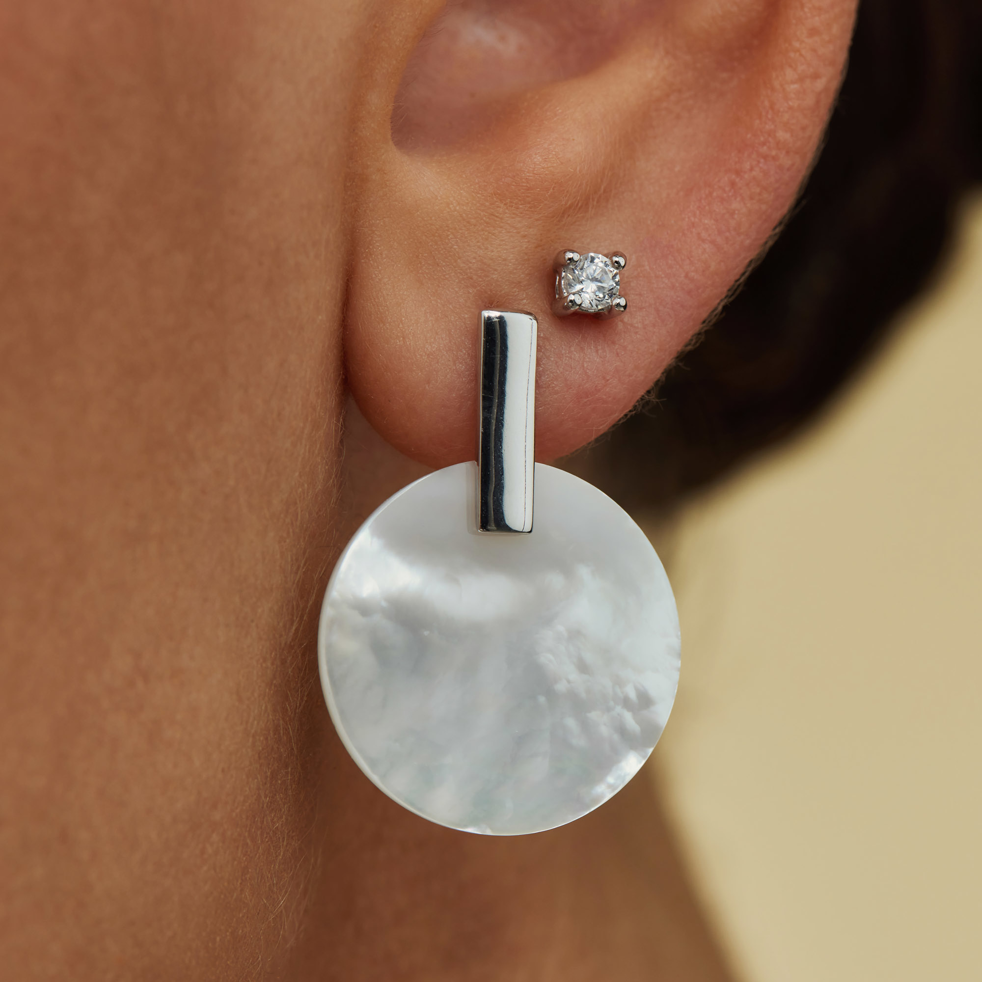 Parte di Me Brioso Cortona Donna 925 sterling silver drop earrings with mother of pearl