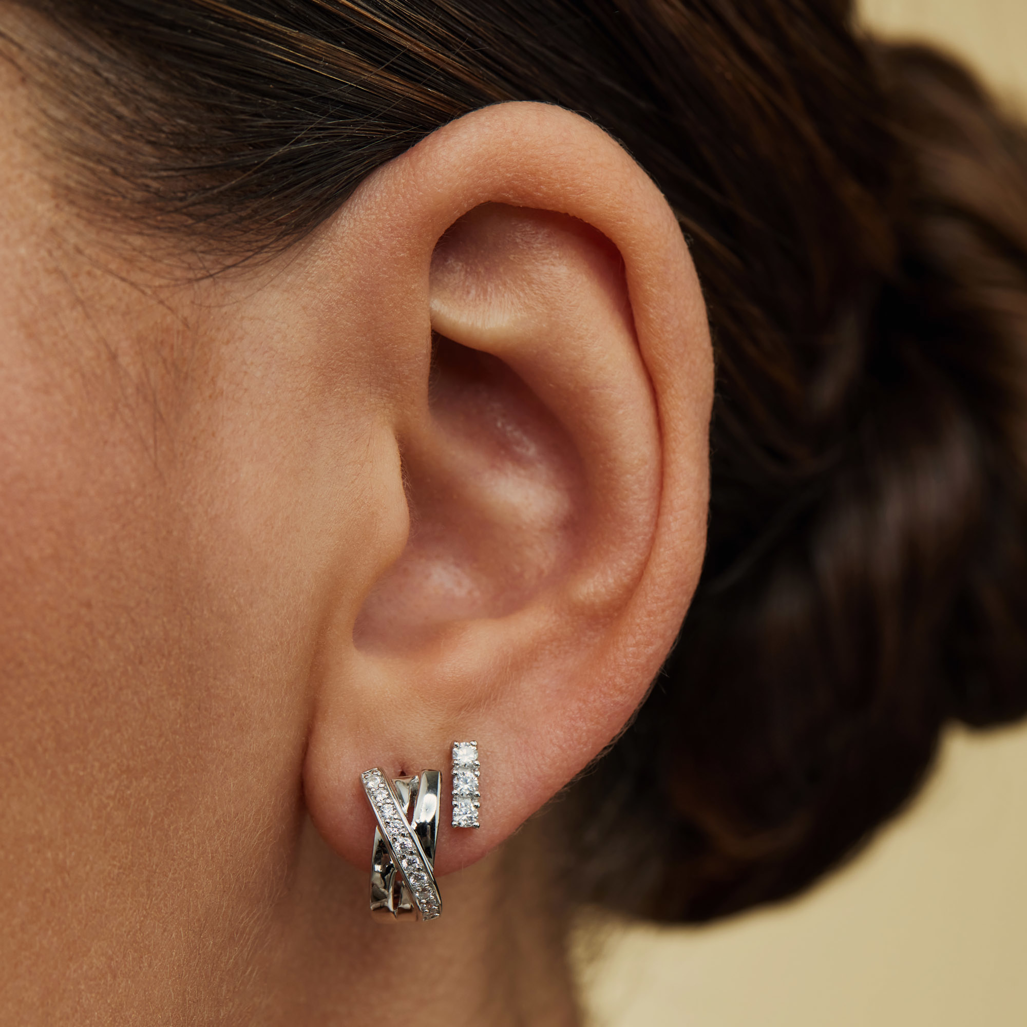 Parte di Me Ponte Vecchio Vasariano 925 sterling silver hoop earrings with zirconia