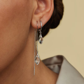 Parte di Me La Sirena Ombrone 925 sterling silver drop earrings with glass
