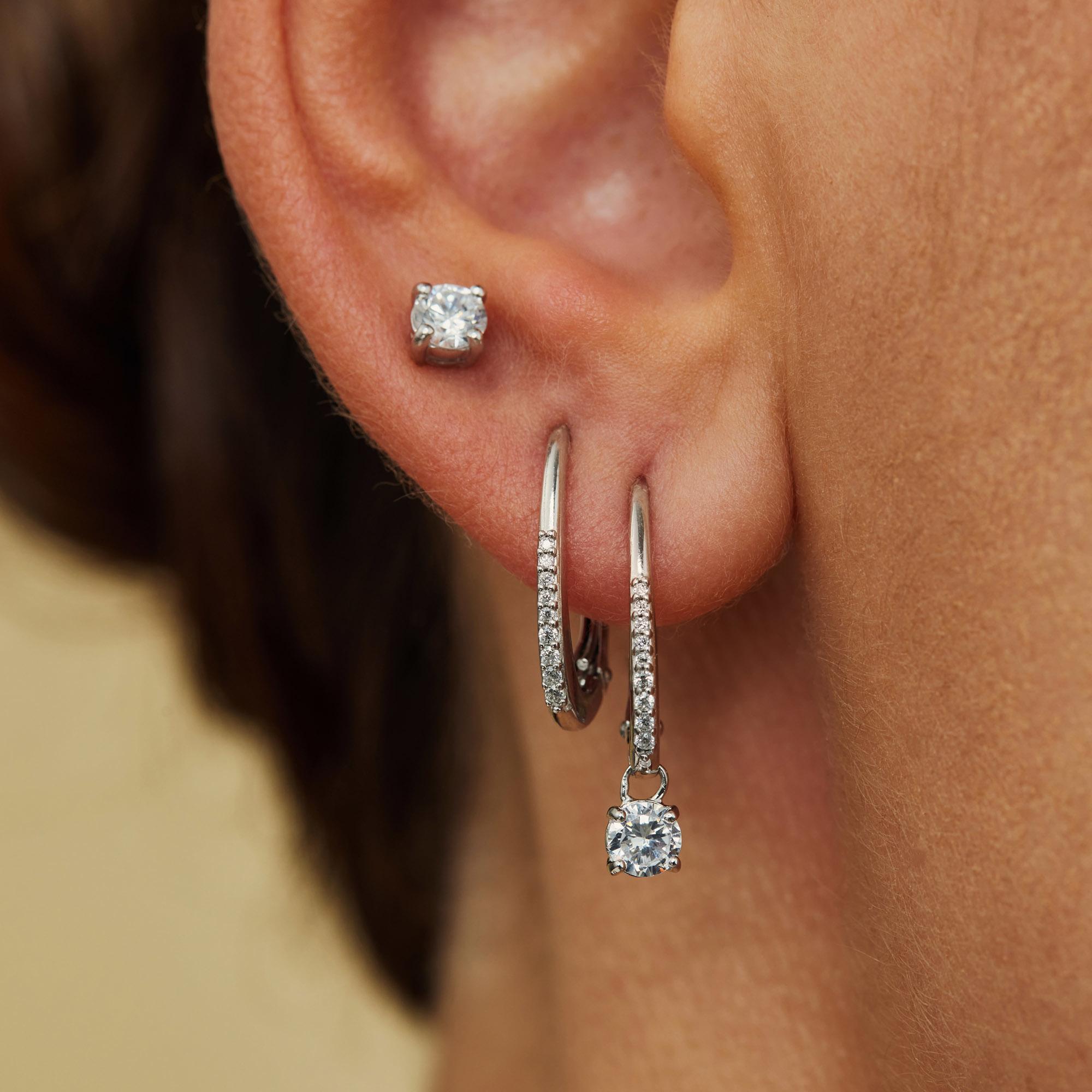 Parte di Me Sorprendimi 925 sterling zilveren set van 3 paar oorbellen