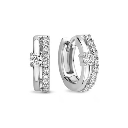Parte di Me Ponte Vecchio Uffizi 925 sterling silver hoop earrings
