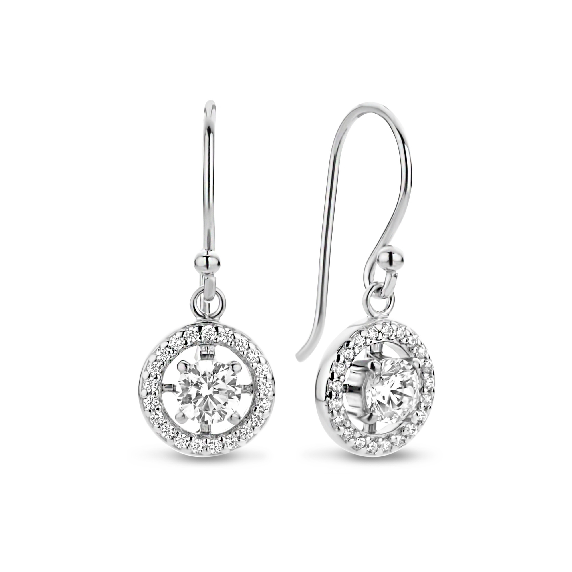 Parte di Me Luce Mia Dalia 925 sterling silver drop earrings with zirconia