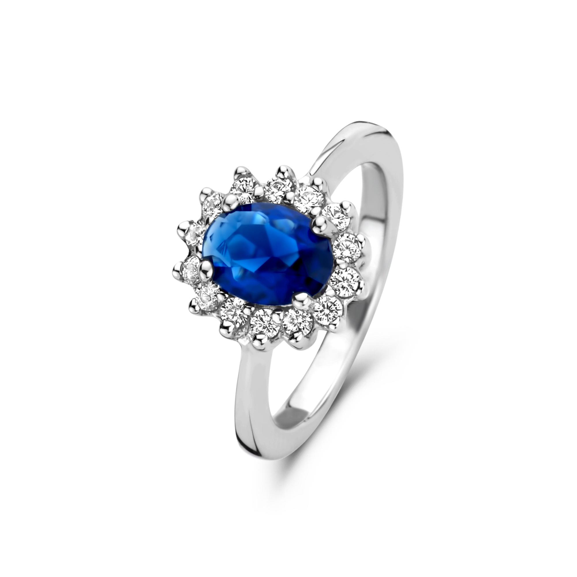 Parte di Me Brioso Cortona Lia 925 sterling zilveren ring met saffier en zirkonia
