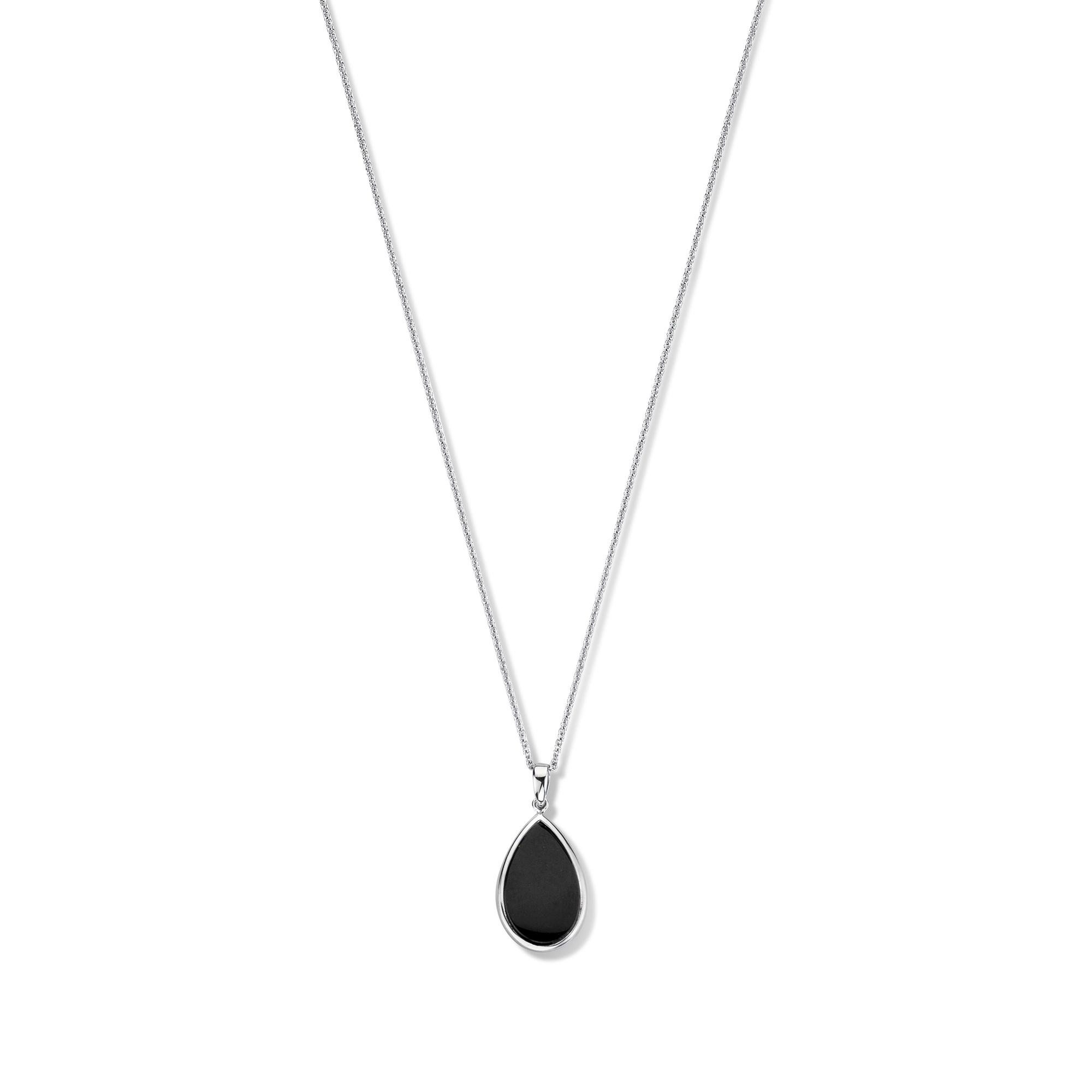 Parte di Me La Sirena Serchio 925 sterling zilveren ketting met zwarte onyx