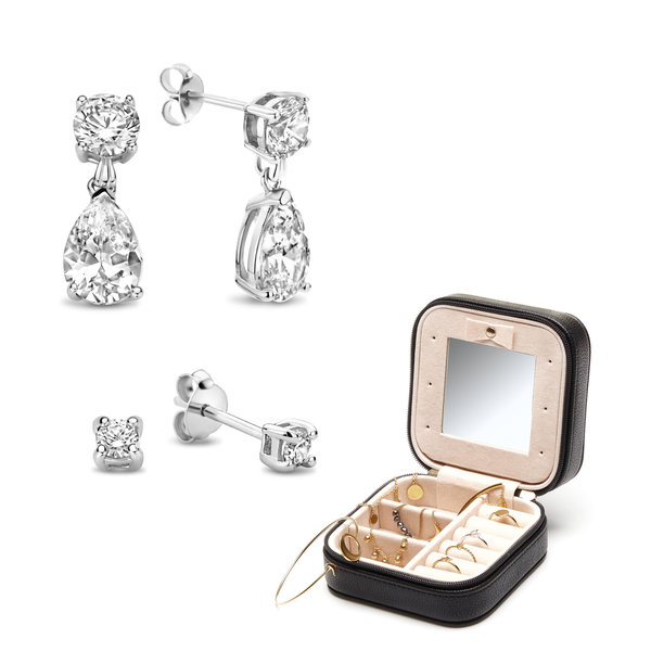 Parte di Me Sorprendimi 925 sterling silver set of earrings and jewellery box