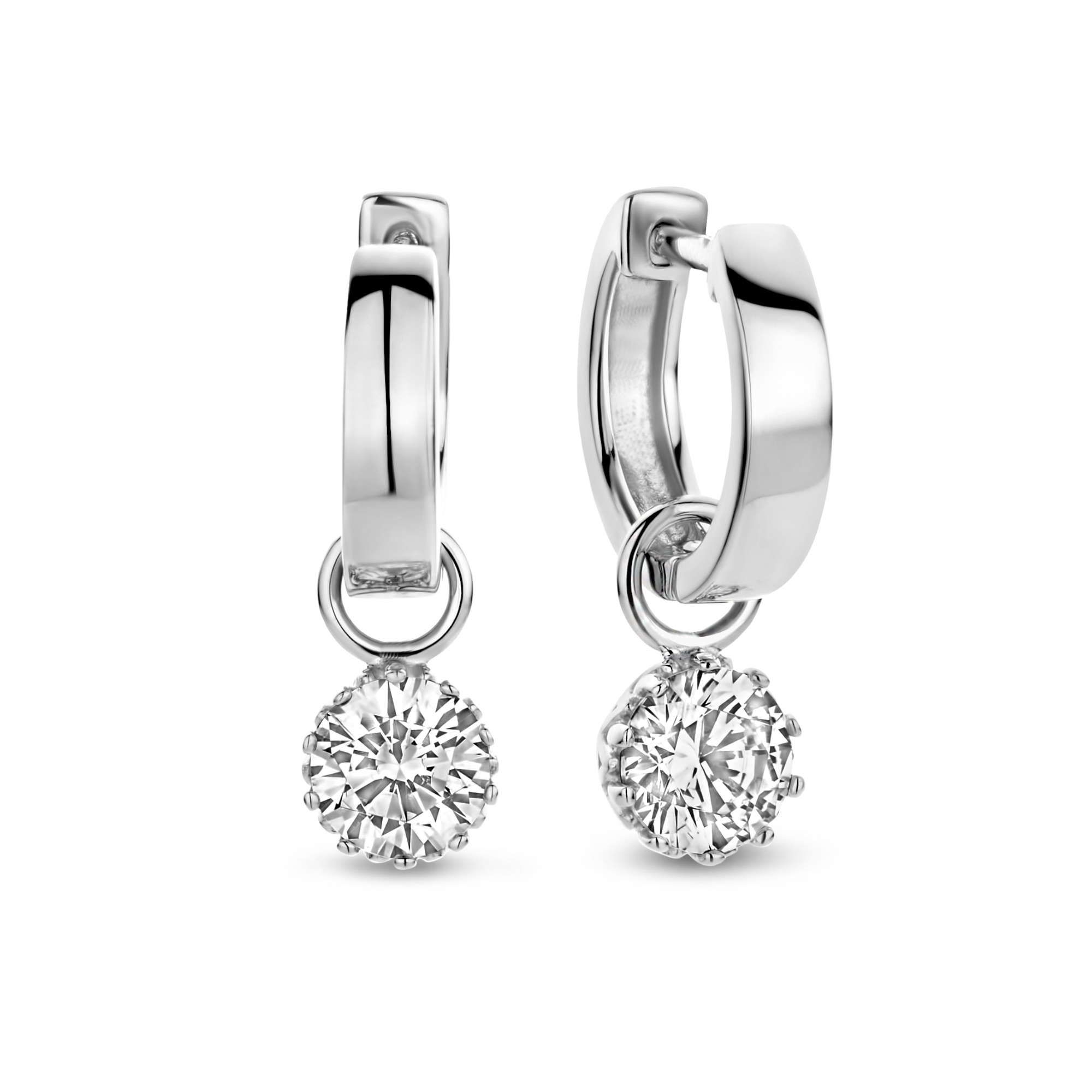 Parte di Me Cento Luci Rosia 925 sterling silver hoop earrings