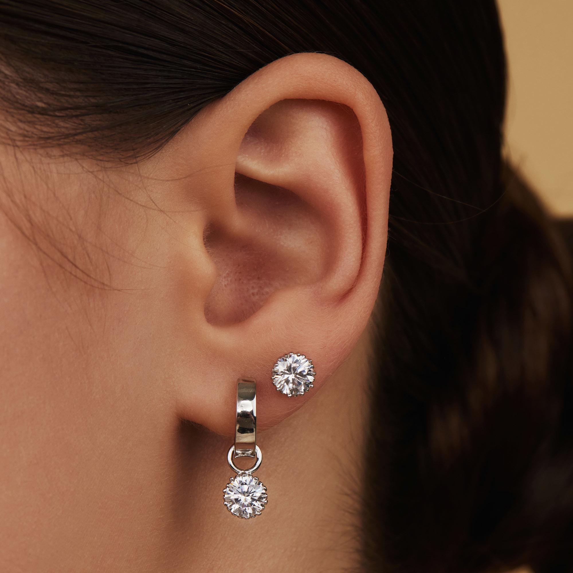 Parte di Me Cento Luci Rosia 925 sterling silver ear studs