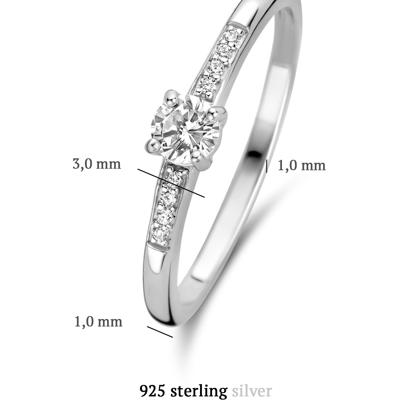 Parte di Me Ponte Vecchio Pitti 925 sterling zilveren ring met zirkonia