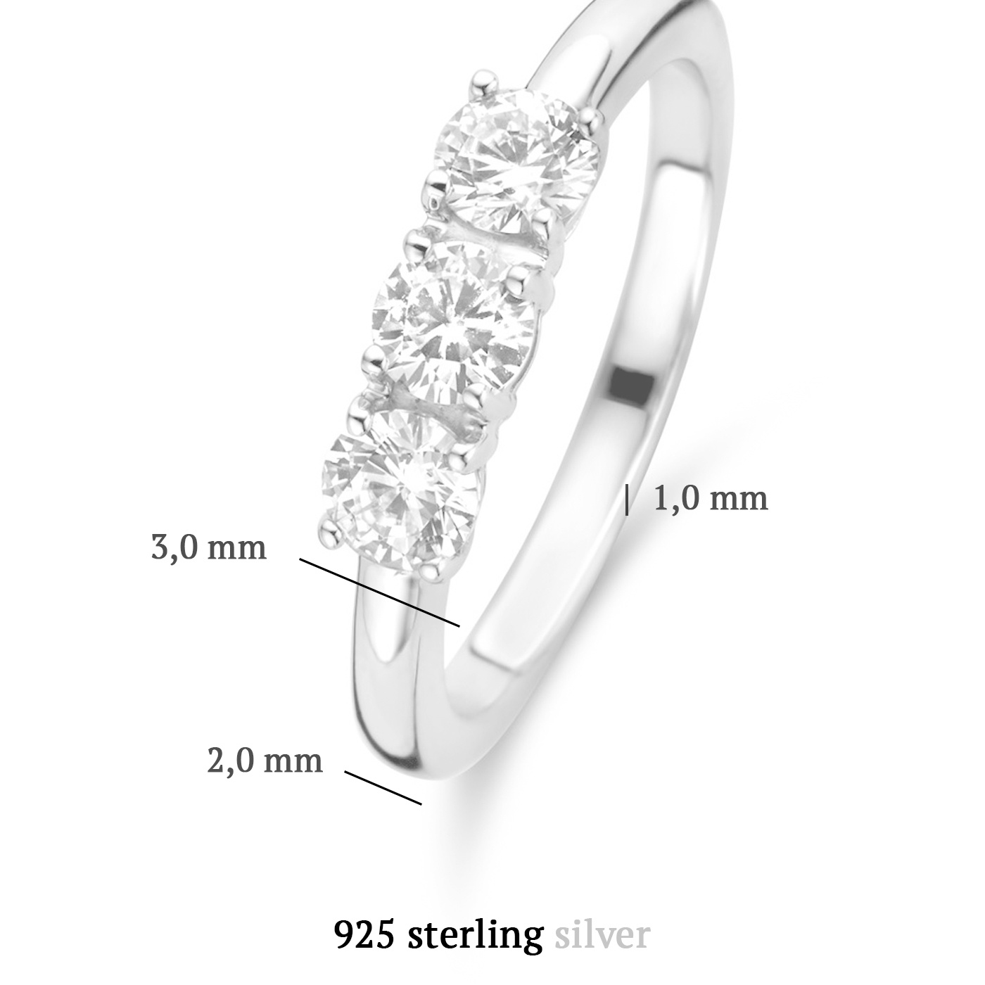 Parte di Me Ponte Vecchio Vasariano 925 sterling zilveren ring met zirkonia