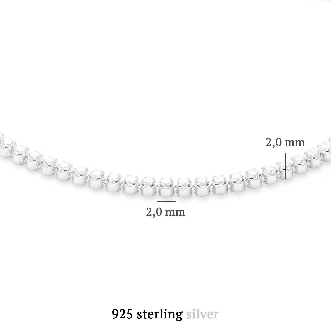 Parte di Me Ponte Vecchio Pitti 925 sterling zilveren armband met zirkonia