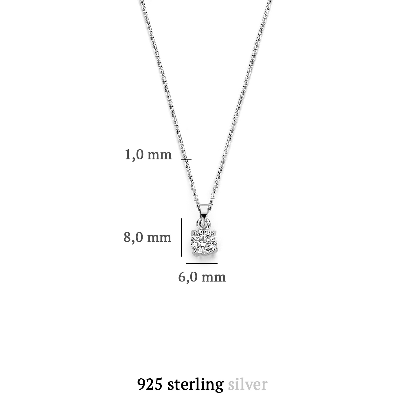 Parte di Me Bella Vita Sienna 925 Sterling Silber Kette