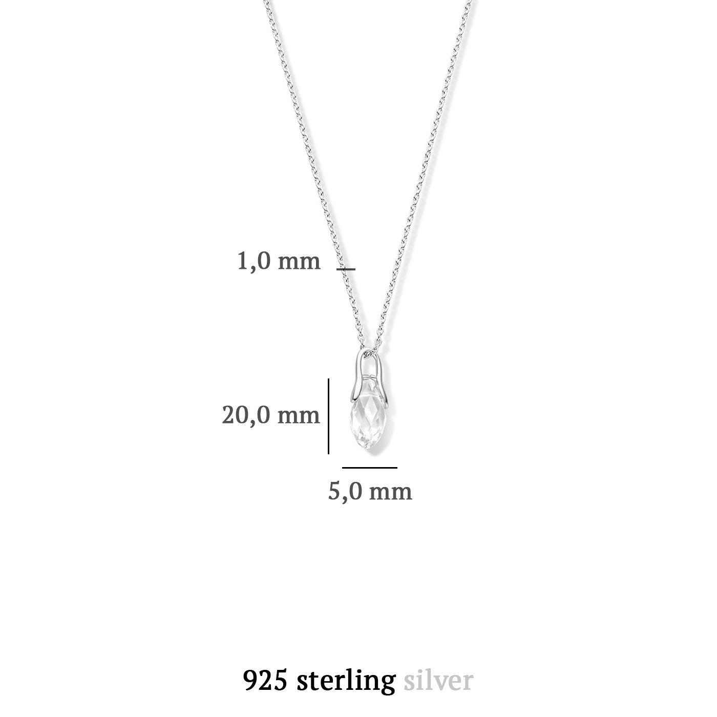 Parte di Me La Sirena Ombrone 925 Sterling Silber Kette