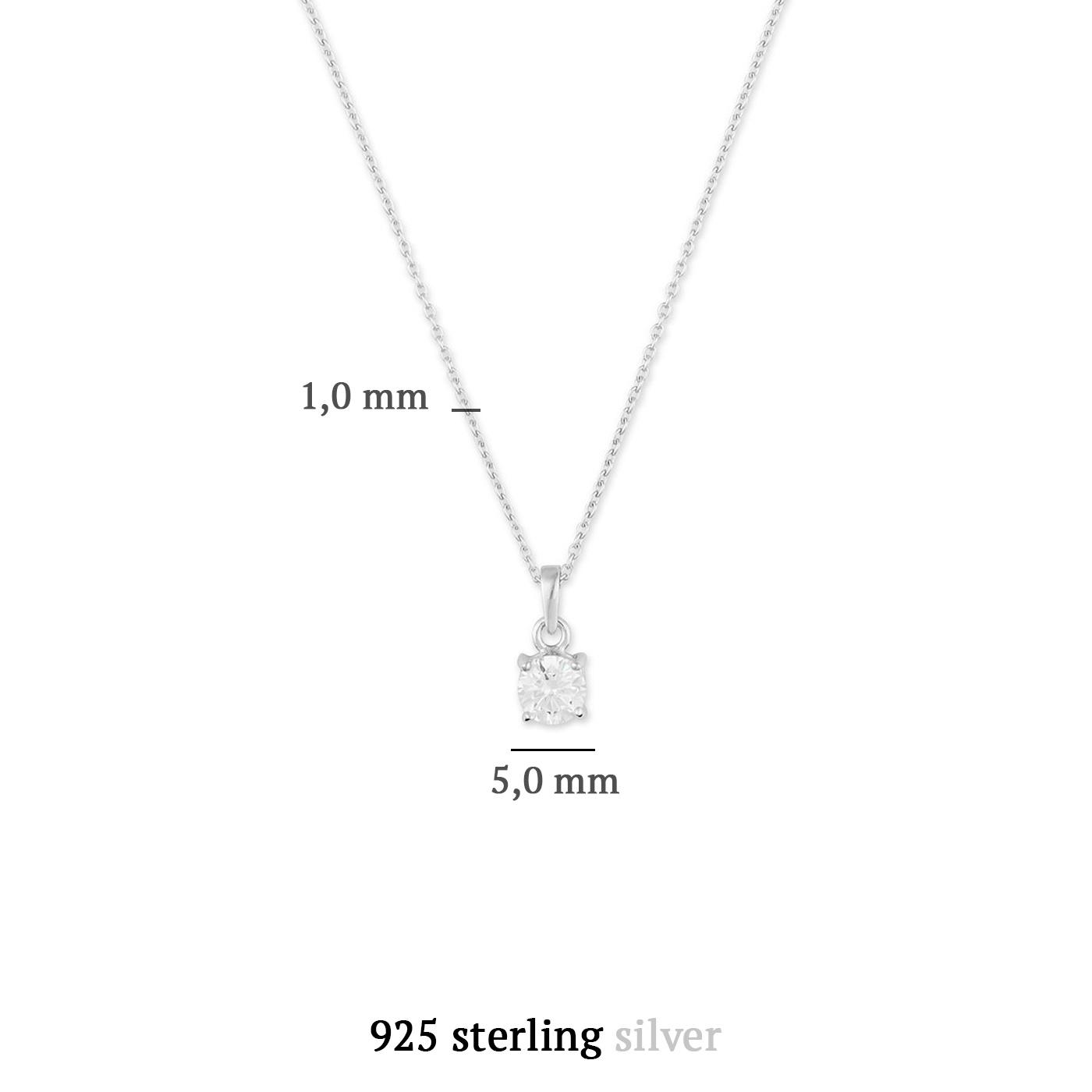 Parte di Me Sorprendimi 925 Sterling Silber Set Ohrstecker, Kette und Schmuckkästchen