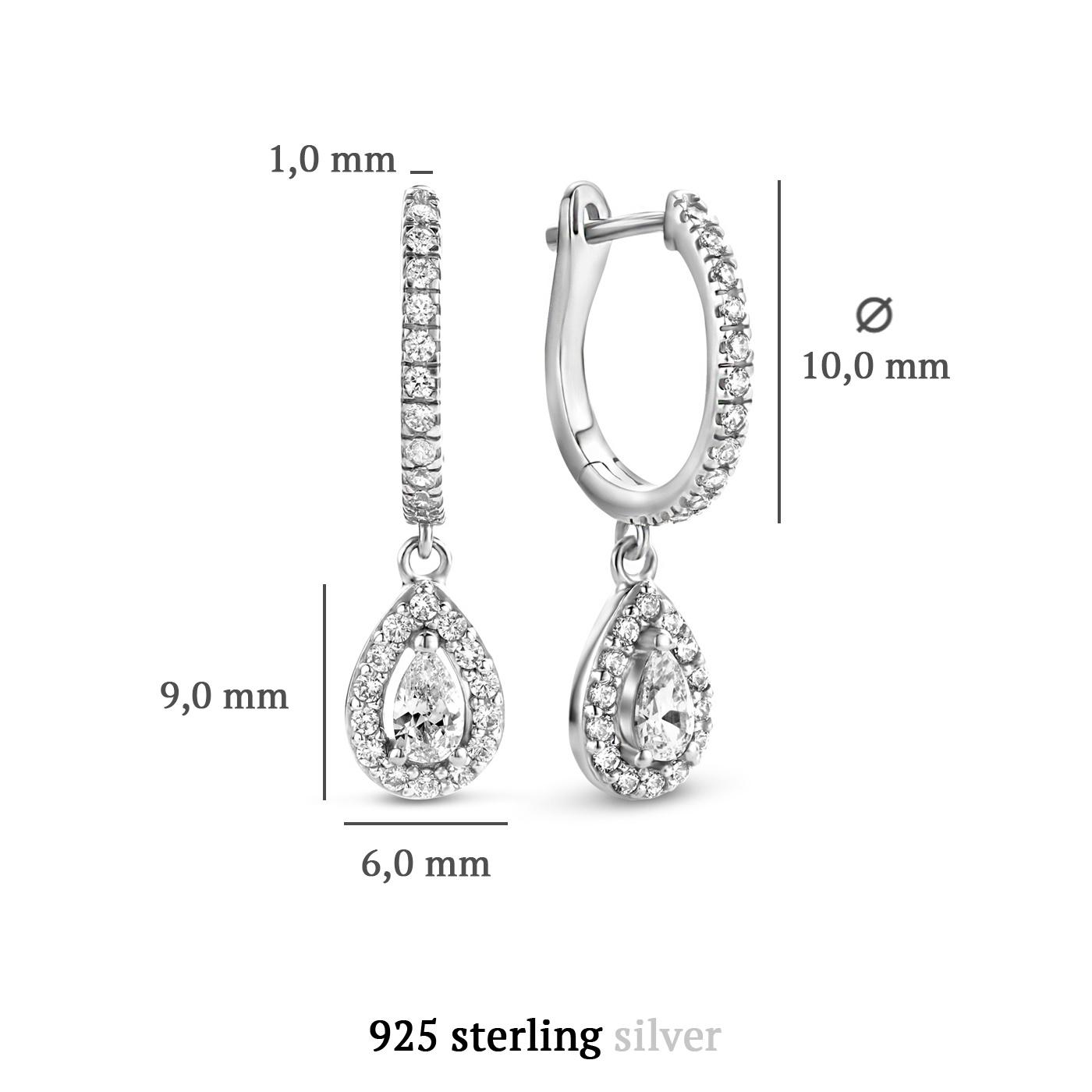 Parte di Me Ponte Vecchio Pitti 925 sterling silver drop earrings with zirconia