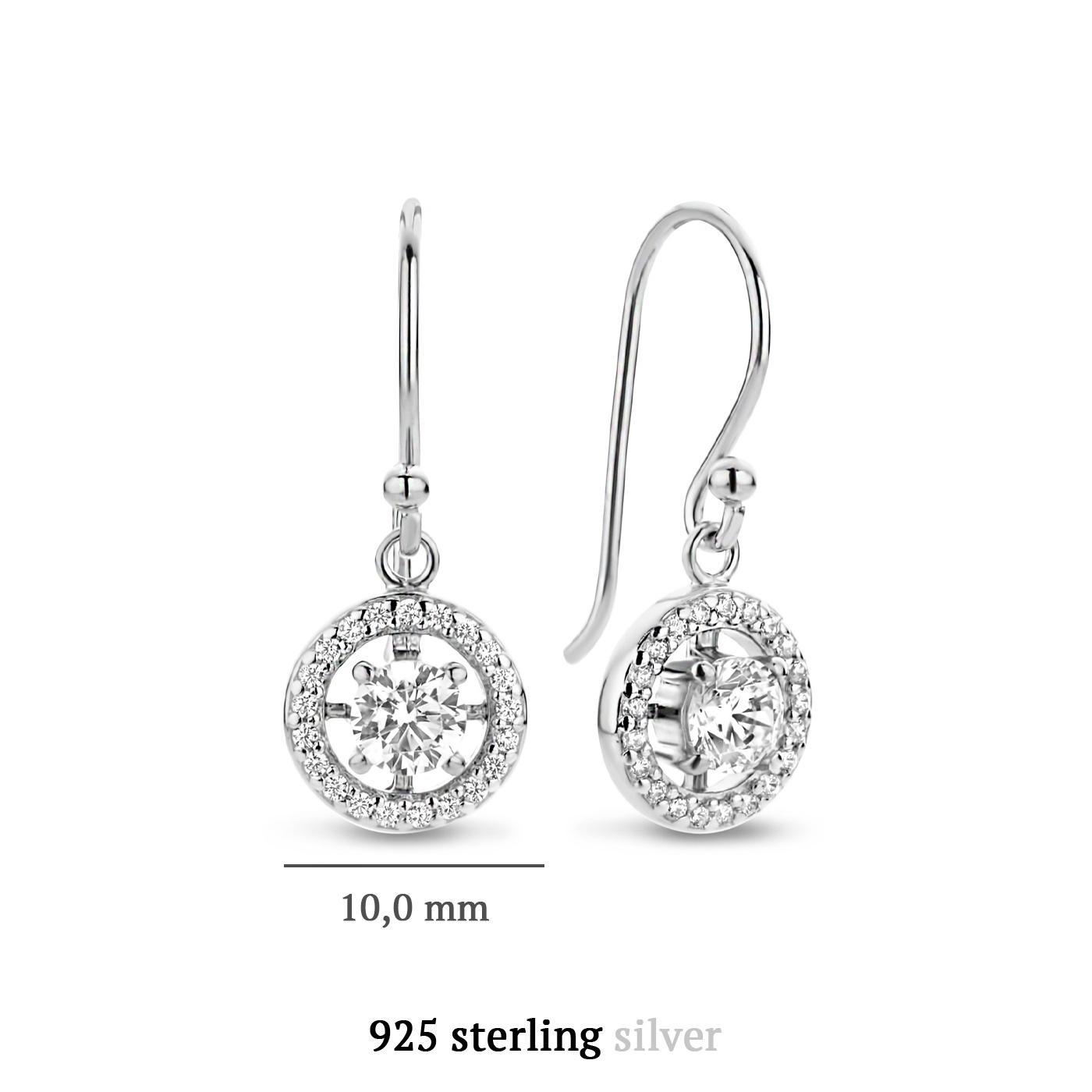 Parte di Me Luce Mia Dalia pendentifs d'oreille en argent sterling 925
