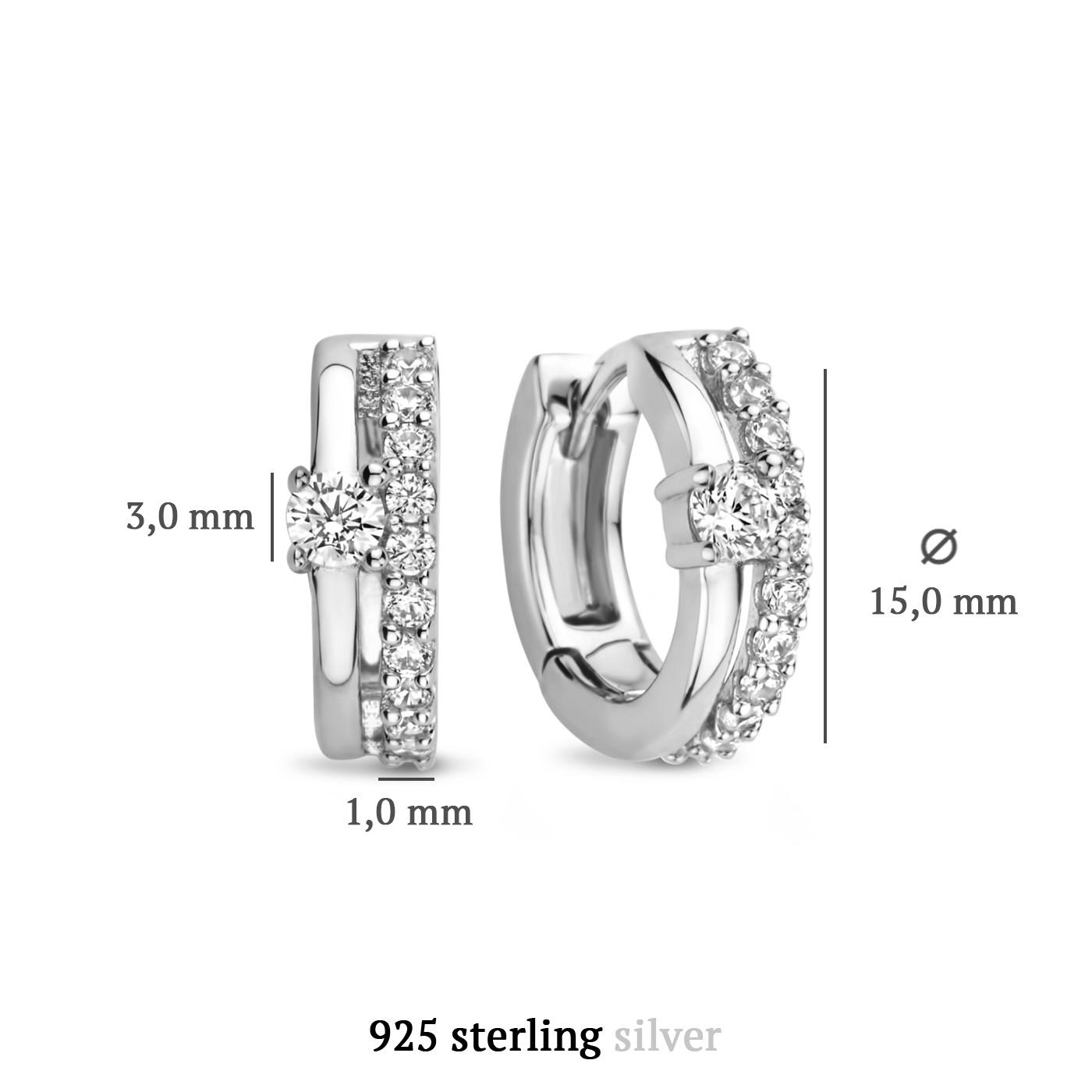 Parte di Me Ponte Vecchio Santa Trinita 925 sterling silver hoop earrings with zirconia