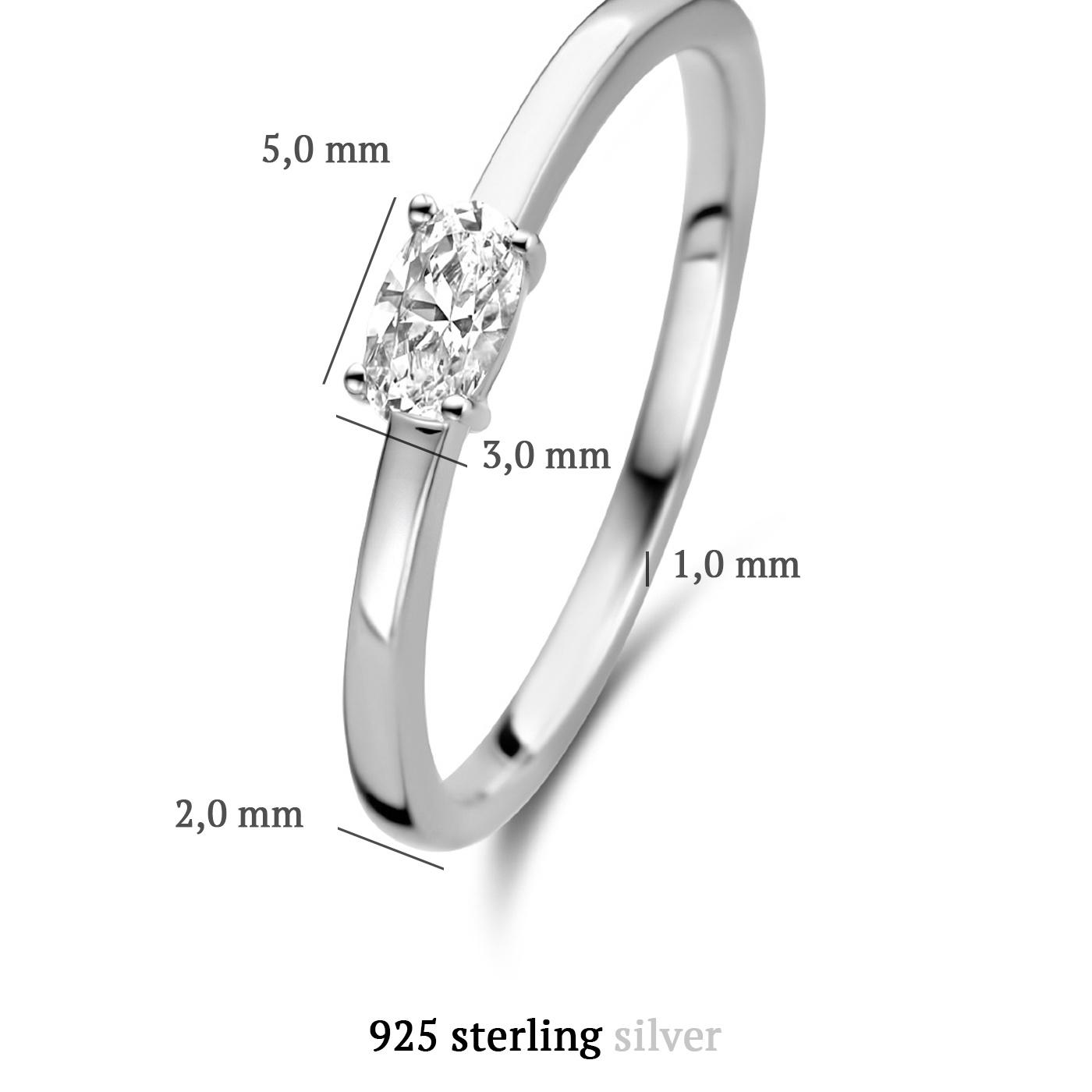 Parte di Me Bella Vita Milena 925 sterling zilveren ring met zirkonia
