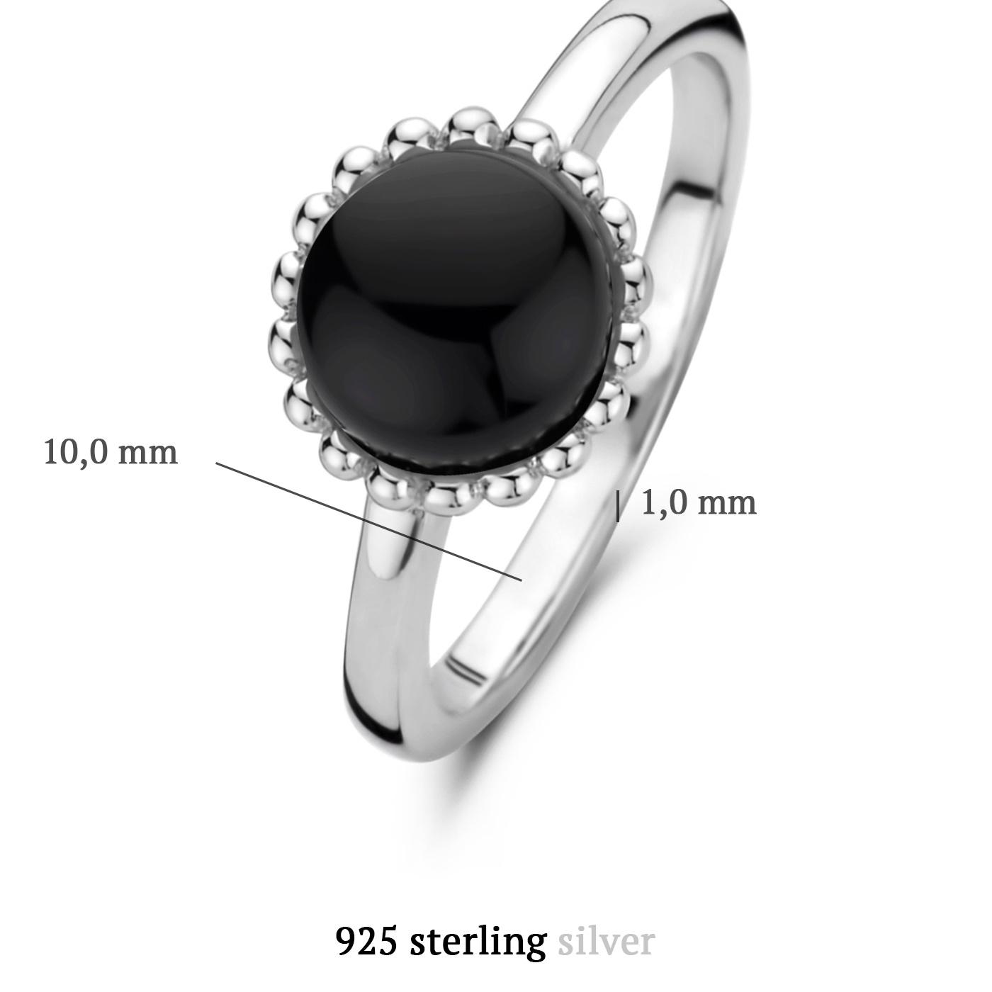 Parte di Me Brioso Cortona Margaretha 925 sterling silver ring with black onyx
