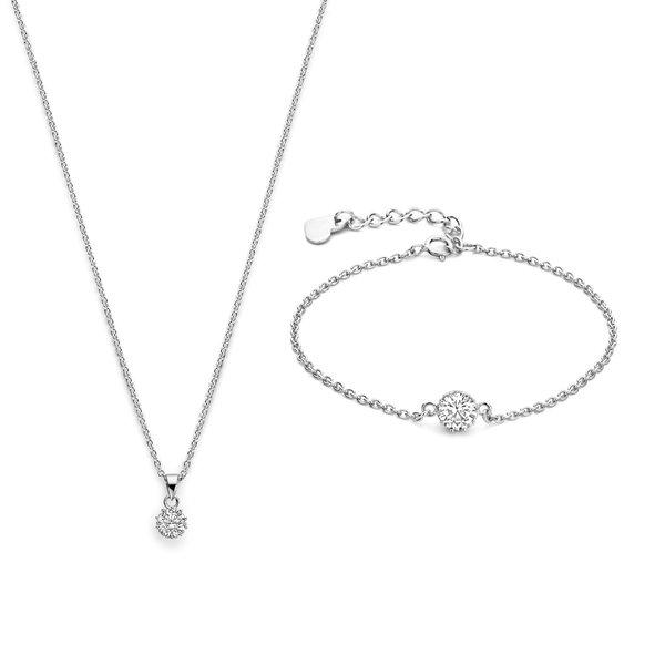 Parte di Me Sorprendimi 925 sterling sølv sæt halskæde og armbånd