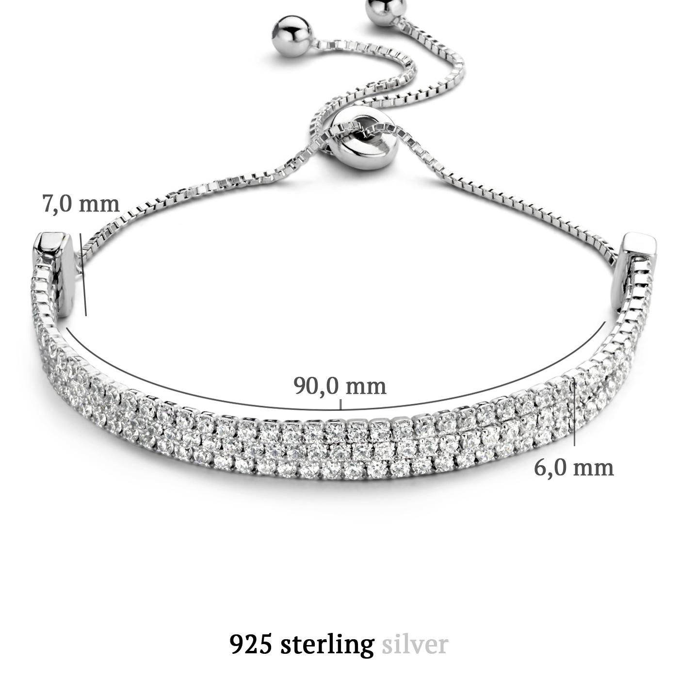 Parte di Me Ponte Vecchio Vasariano 925 sterling zilveren armband met zirkonia