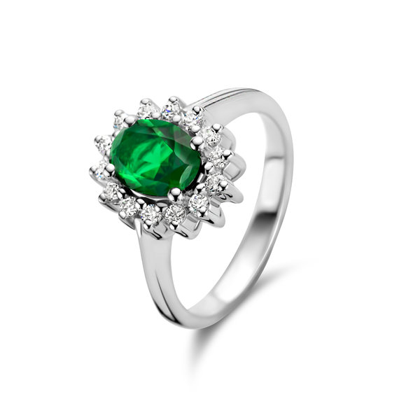 Parte di Me Mia Colore Verdi anello in argento sterling 925