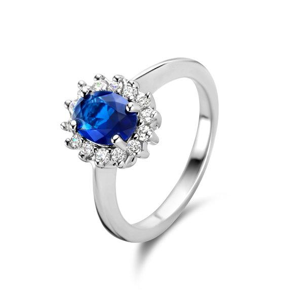 Parte di Me Mia Colore Azure anello in argento sterling 925