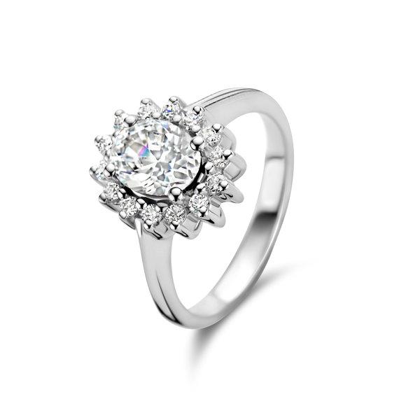 Parte di Me Mia Colore Bianca anello in argento sterling 925