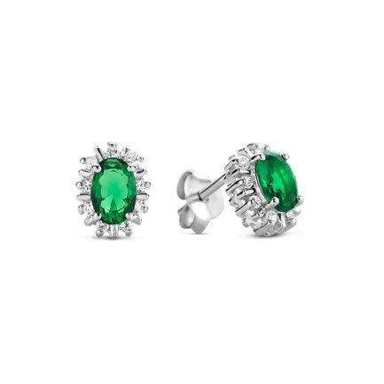 Parte di Me Mia Colore Verdi orecchini a bottone in argento sterling 925