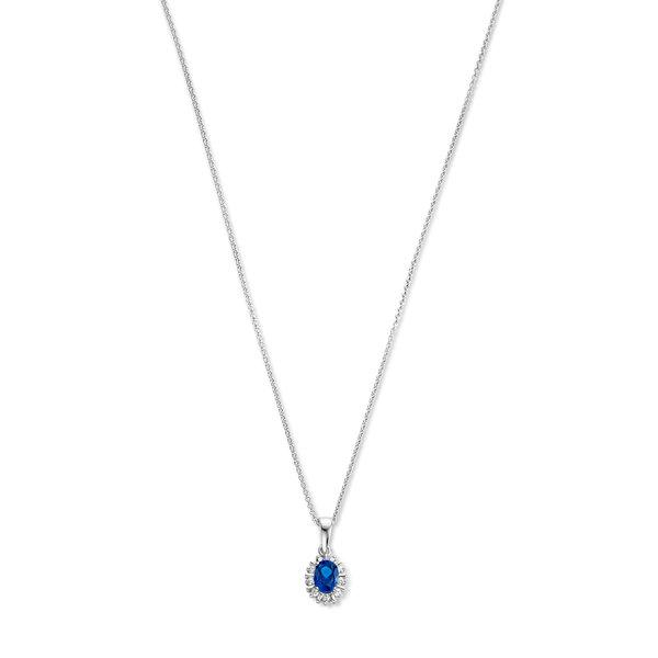 Parte di Me Mia Colore Azure collana in argento sterling 925