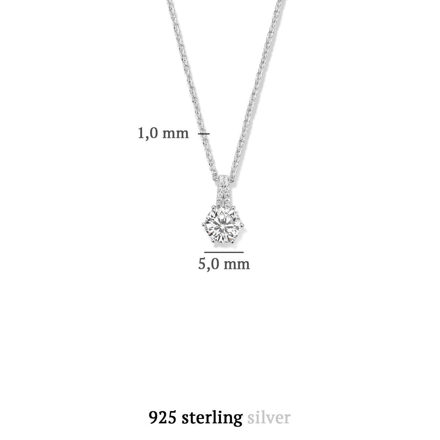 Parte di Me Bella Vita Sienna 925 sterling zilveren ketting