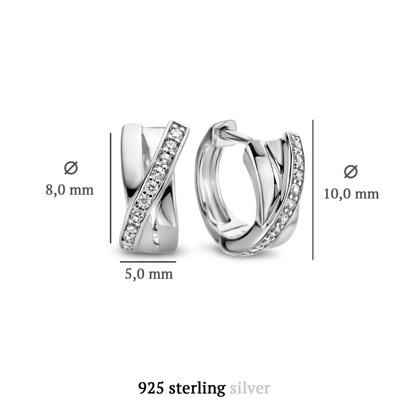 Parte di Me Ponte Vecchio Vasariano 925 sterling zilveren creolen met zirkonia