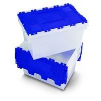 Wasbox wit en blauw