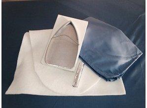 CO.M.E.L. Opfrisset ovale strijktafel - C en A