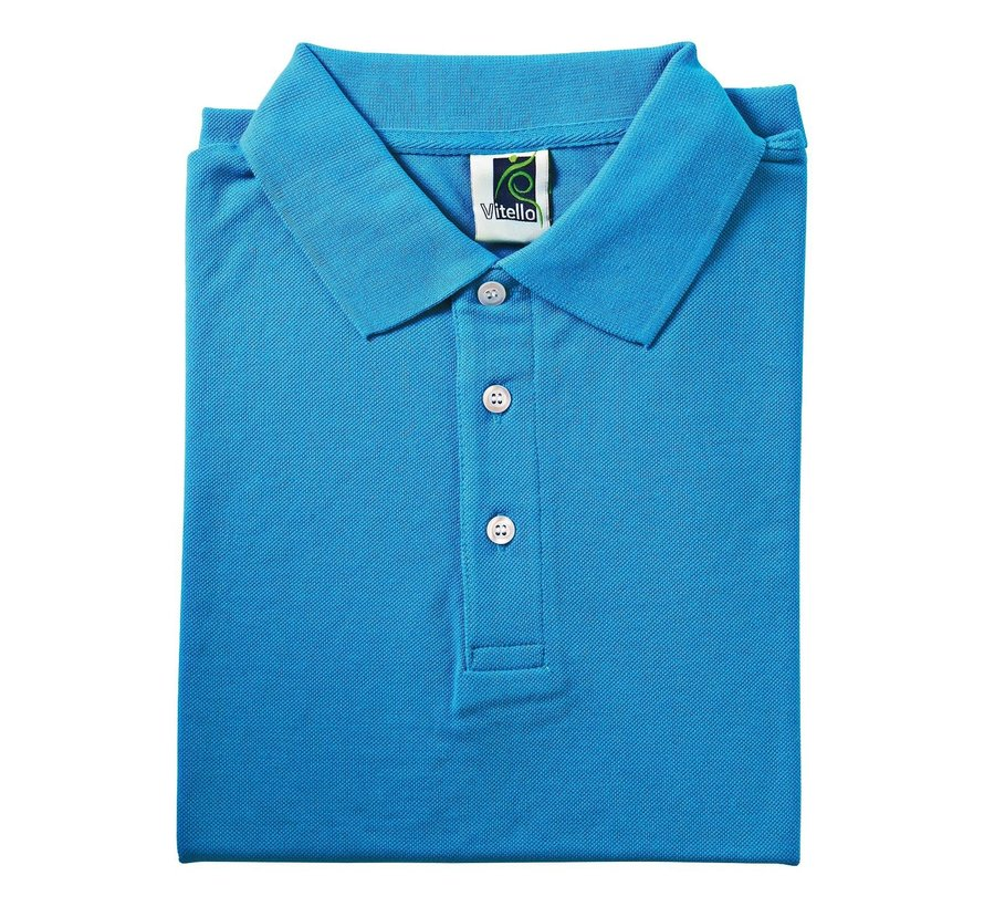 Vitello Polo comfort fit S, aqua blauw, 1 stuk