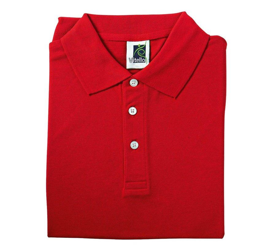 Vitello Polo comfort fit L, rood, 1 stuk