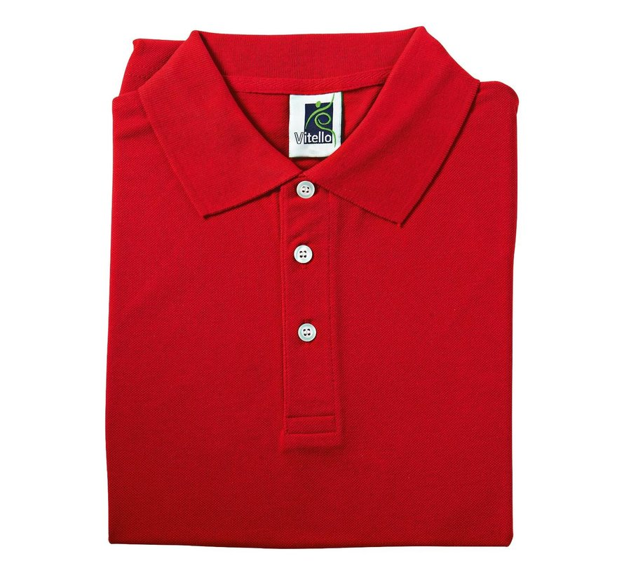 Vitello Polo comfort fit S, rood, 1 stuk