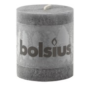 Bolsius Bolsius Stompkaars rustiek 80/68, antraciet, 1 stuk