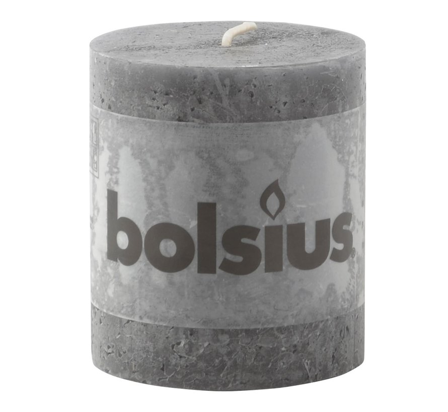 Bolsius Stompkaars rustiek 80/68, antraciet, 1 stuk