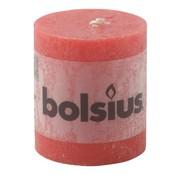 Bolsius Bolsius Stompkaars rustiek 80/68, rood, 1 stuk