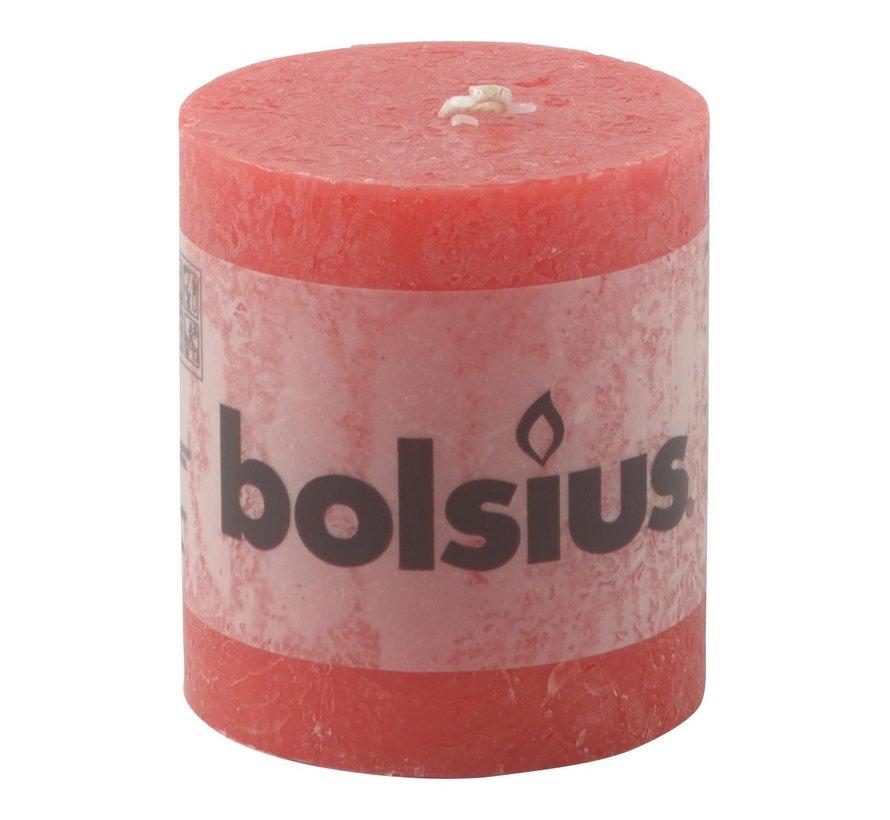 Bolsius Stompkaars rustiek 80/68, rood, 1 stuk