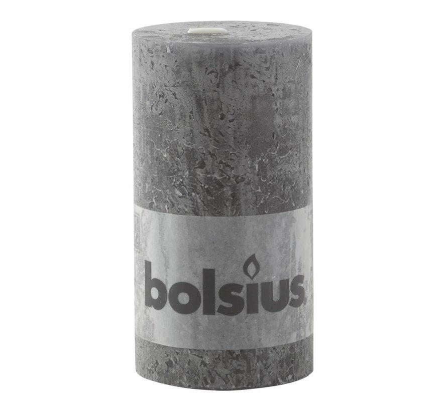 Bolsius Stompkaars rustiek 130/68, antraciet, 1 stuk