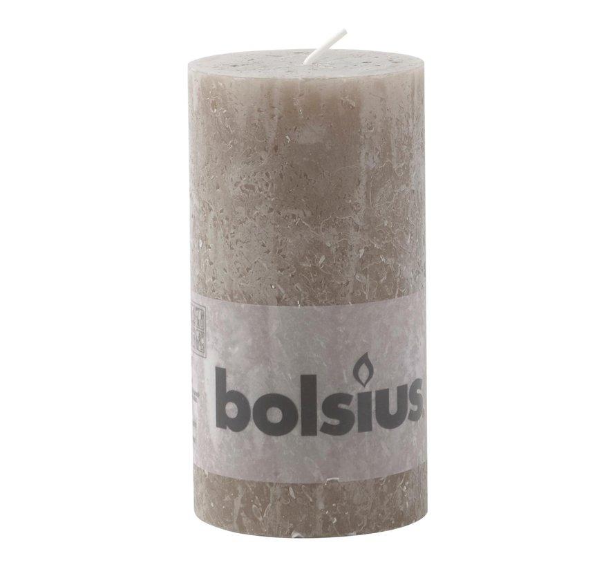 Bolsius Stompkaars rustiek 130/68, Bruin, 1 stuk