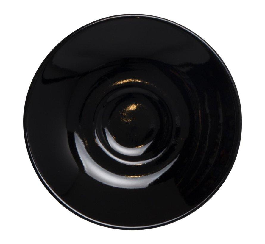 Maastricht Espressoschotel 11 cm zwart, 1 stuk
