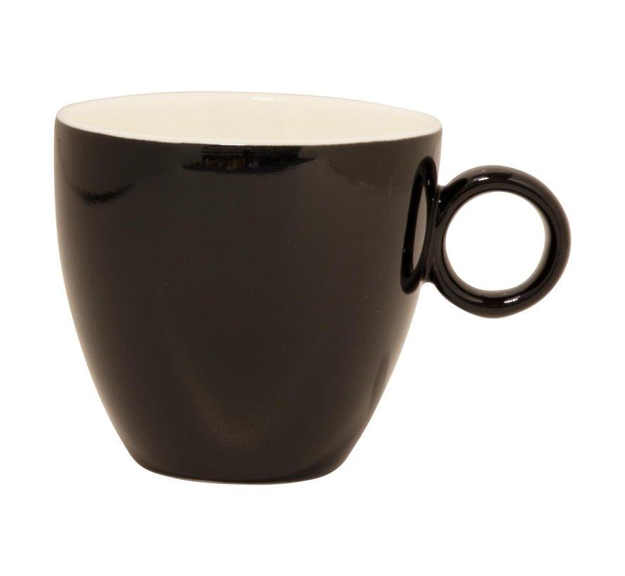 Maastricht Koffiekop 17 cl zwart, 1 stuk