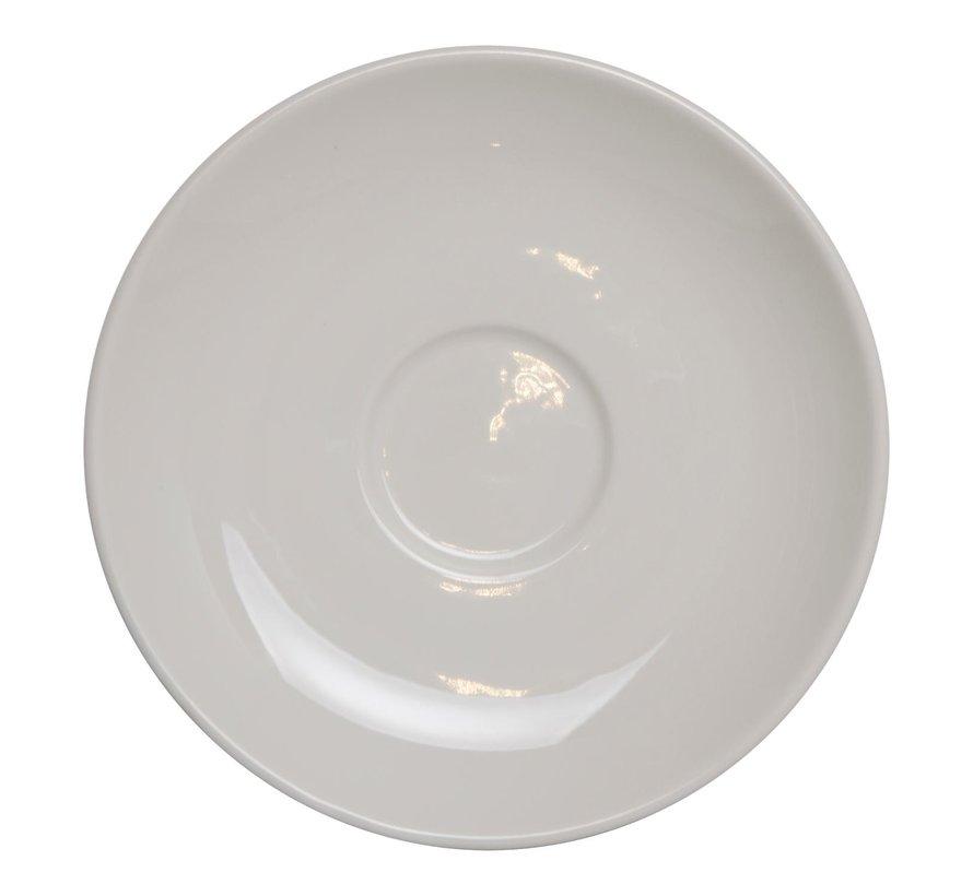 Maastricht Cappuccinoschotel 15,5 cm wit, 1 stuk